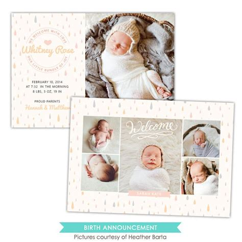 birth announcements templates for photographers birth announcement photoshop templates for photographers