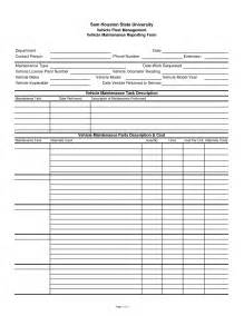 Vehicle Maintenance Sheet Template by Best Photos Of Auto Maintenance Log Form Vehicle