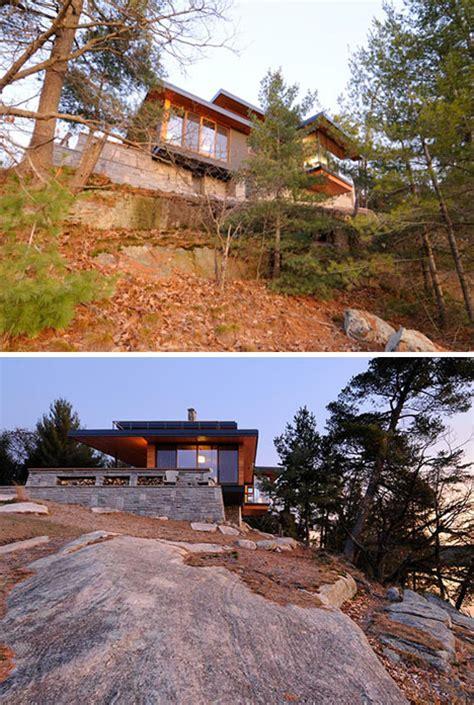gorgeous green split level lake house    grid designs ideas  dornob