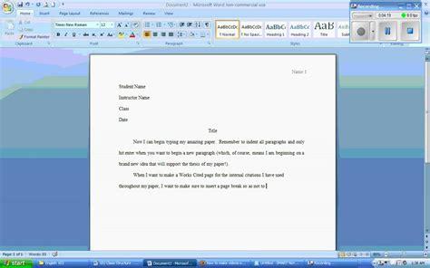 essay format word 2007 microsoft word 2007 mla formatting wmv youtube