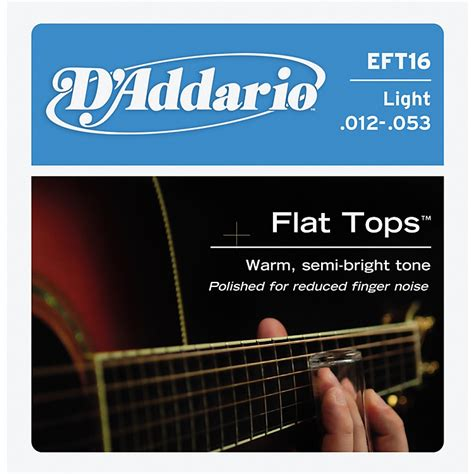 light acoustic strings d addario eft16 flat top pb light acoustic guitar strings