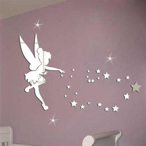meya pcsset tinkerbell fairy wall mirror acrylic