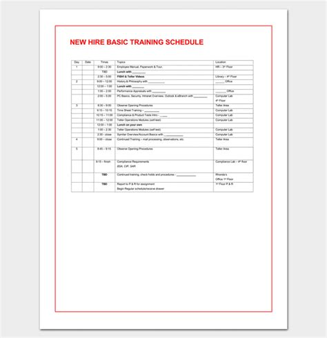 training agenda template  word excel  train