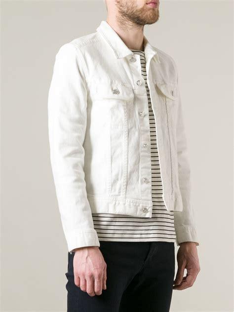 Jaket Bloods Denim a p c denim jacket in white for lyst