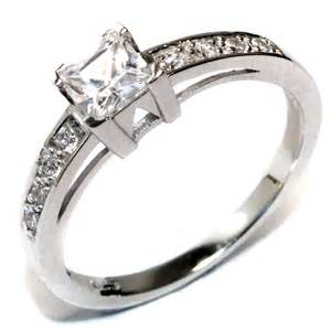 promise rings princess cut white promise ring beautiful promise rings