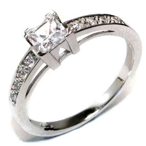 princess cut white promise ring promise rings