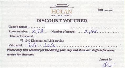 Discount Vouchers Uk Hotels | cafe bill 2 picture of hoi an historic hotel hoi an