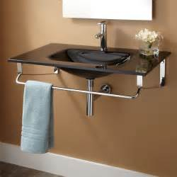 wall hanging sink cabinets leiden wall mount sink with towel bar bathroom