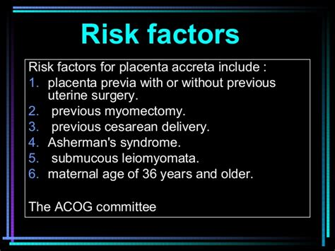 Risk Of Placenta Accreta After 2 C Sections by Placenta Accreta