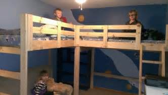Instructions For Building Loft Beds by Diy L Shaped Bunk Beds Part Ii Timandmeg Net