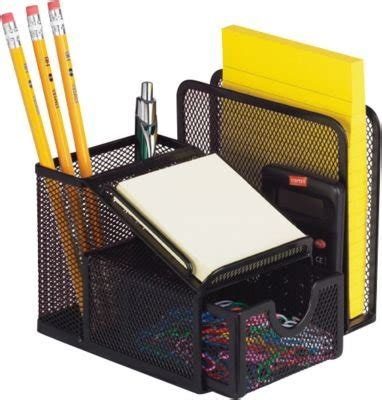 Desk Supply Organizer Office Mesh All In One Desk Caddy Sorter Organizer New Supply Tool Gift Pens Ebay