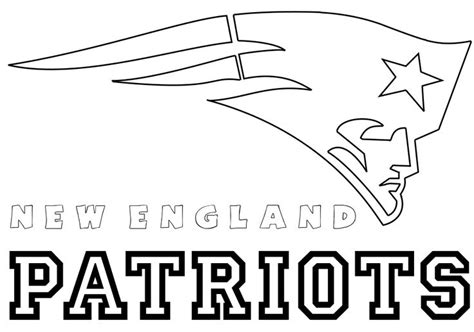 ne patriots coloring pages pinterest patriots