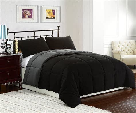 Black Comforter Set by Reversible Comforter Sets Ease Bedding With Style