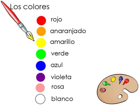 color in spanish spanish and search on pinterest