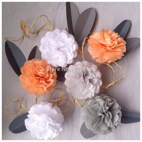 How To Make Artificial Flowers With Paper - aliexpress buy 4 quot 10cm tissue paper pom poms