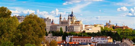 frontline madrid battlefield tours panorama of madrid spain with the royal palace and the