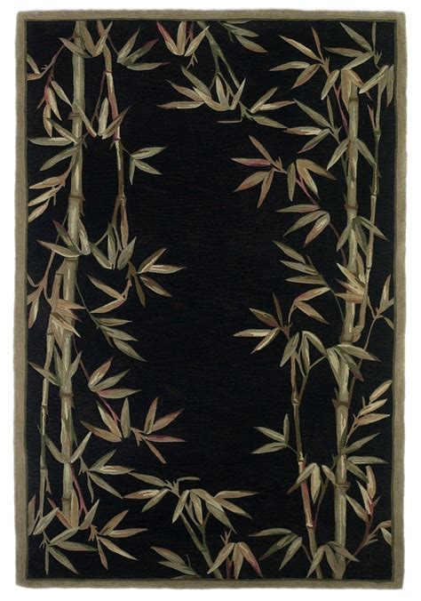 black bamboo rug sparta black bamboo border 90 quot x 90 quot rug from kas rugs coleman furniture