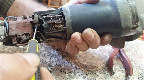 riparare pulsante smerigliatrice bosch youtube