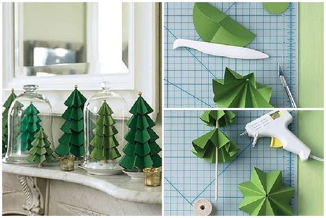 How To Make Holiday Crafts - how to make paper craft christmas trees step by step diy tutorial instructions thumb how to