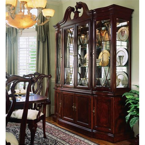 93 antique cherry dining room set china cabinet cherry grove breakfront china cabinet 792 840r