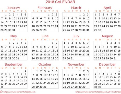2018 Calendar Download Quality Calendars Transparent Calendar Template