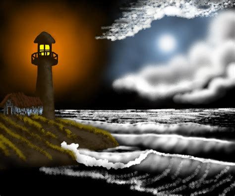 bob ross painting lighthouse lighthouse by darkqiviut on deviantart