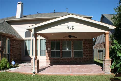 Patio Cover in Houston (Gable Roof)   HHI Patio Covers