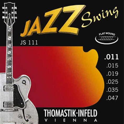 thomastik infeld jazz swing thomastik js111 jazz swing flat strings 11 47 guitars n
