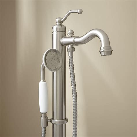 freestanding bathtub faucet leta freestanding tub faucet with hand shower bathroom