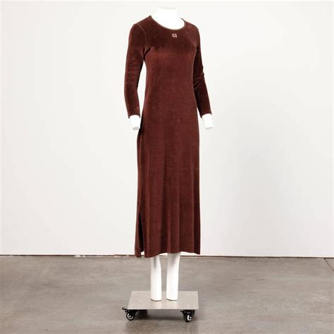 Givenchy Maxi Dress 1970s givenchy vintage brown velour maxi dress with