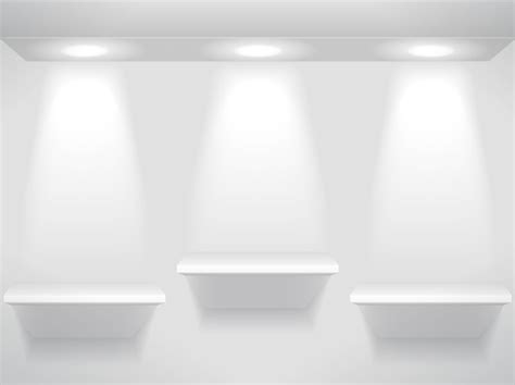 Cool Wall Shelves showcase and shelves light free vector graphic download