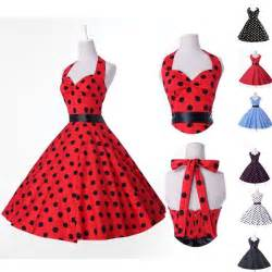 Swing Kleid Polka Dots by Rock And Roll 1950s Vintage Polka Dot Swing Jive Evening