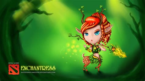 Chibi Dota 1 dota 2 chibi enchantress 9c wallpaper hd
