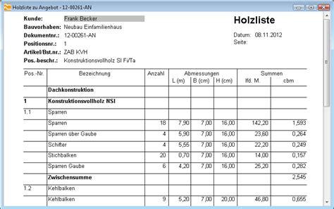 Muster Angebot Metallbau casa die branchensoftware f 252 r zimmerer sander doll