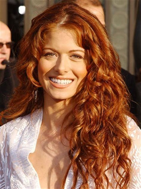actress with long red hair the power of air drying skipping the blow drying process