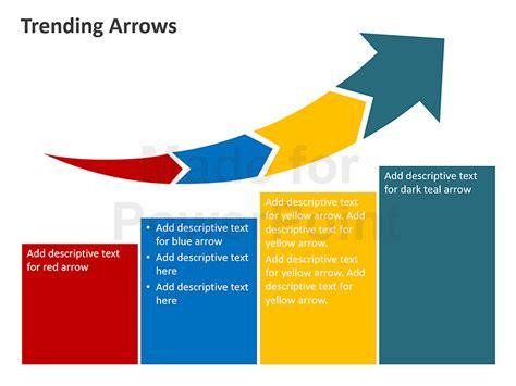 powerpoint tutorial graphics trending arrows editable powerpoint presentation