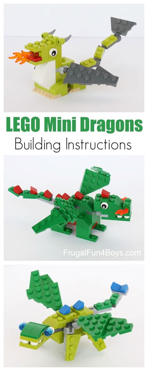 lego dragon tutorial lego mini dragon building instructions lego dragons and
