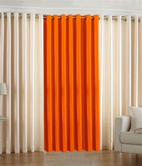 orange and cream curtains pindia cream orange plain eyelet curtains set of 3