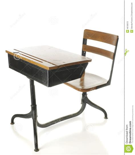 white school desk antique school desk stock photo image 48136572