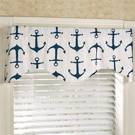 nautical valances anchored nautical shaped window valance