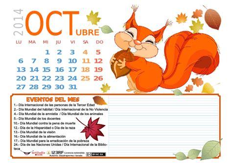 imagenes alusivas octubre calendario mes de octubre actiludis