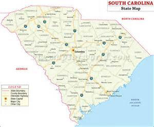 carolina state map with cities united states map map of usa