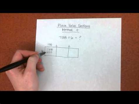 place value sections method place value sections method for long division youtube