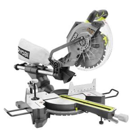 ryobi 13 10 in sliding miter saw with laser tss102l