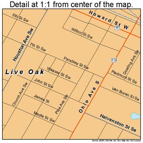 live road map live oak florida map 1240875