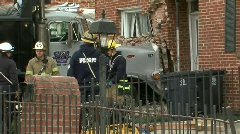 prince george monster truck dump truck crashes into house in prince george s county