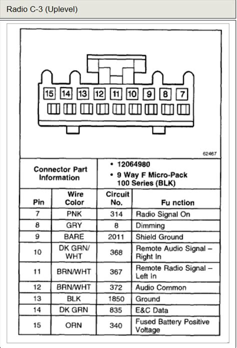 stereo wiring diagram for 2000 chevy impala stereo