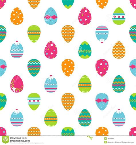 seamless egg pattern seamless easter pattern with eggs stock photo image
