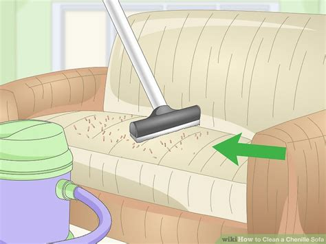 cleaning chenille sofa 3 ways to clean a chenille sofa wikihow