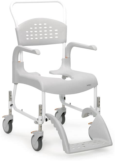 How To Use A Commode Chair by Etac Clean 24 Mobile Shower Commode Chair